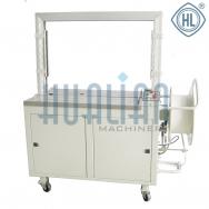 KZ-8060/C автоматический стреппинг упаковщик с высоким столом